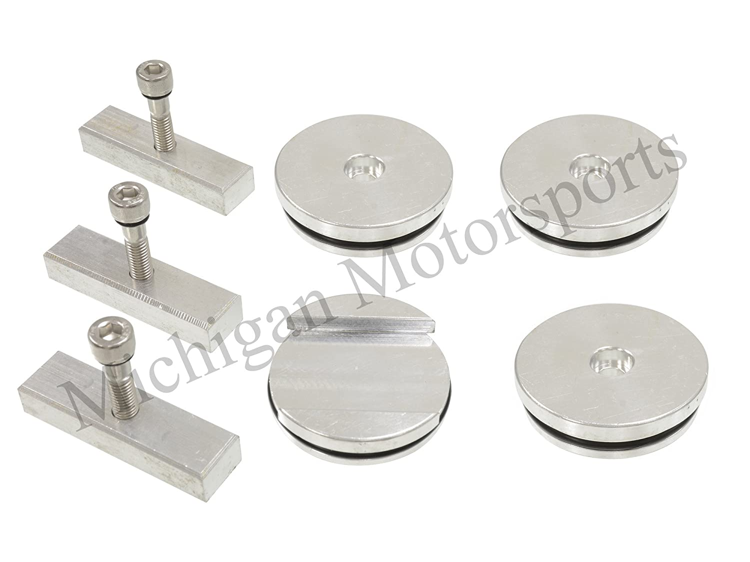 Michigan Motorsports Billet Aluminum Freeze Plug Set Fits1989-2007 5.9L Dodge Cummins Diesel