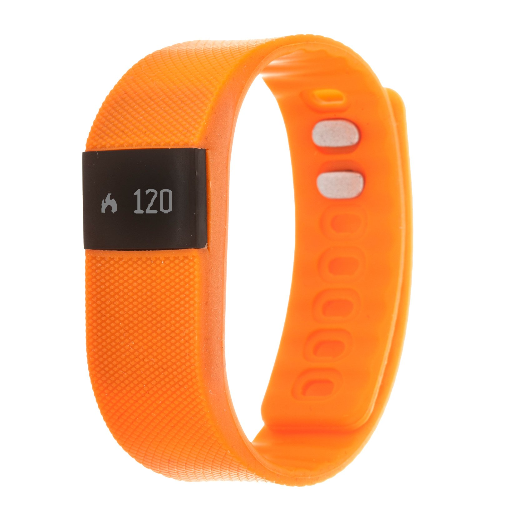 Zunammy Women's 'Activity Tracker with Call and Message Reminders' Automatic Plastic and Rubber Smart Watch, Color Orange (Model: NWTR021OR)