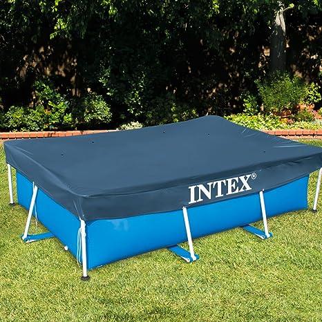 Intex 28039 - Cobertor piscina rectangular Prisma/small frame 460 ...