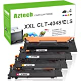 Aztech 4 Pack Compatible for Samsung CLT-404S CLT-P404C ELS Toner Cartridge for Samsung Xpress C430W C430 SL-C430 SL-C430W C480FW C480FN C480W Samsung Laser Printer