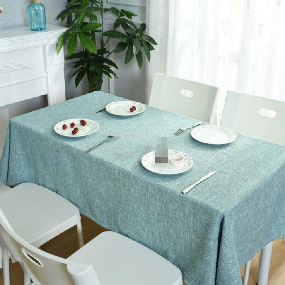 C 130130cm ZXY Nappe de table simple et moderne en coton et lin, facile à nettoyer Manteau pratique en tissu anti-poussière résistant à l'usure, tissu de couverture rectangulaire multifonctionnel,B,130200cm