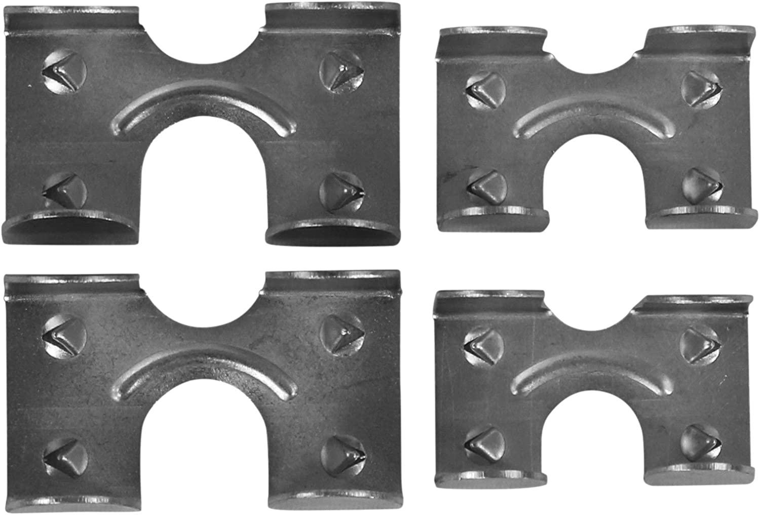 12 Total KingChain Rope Clamps, 1//2-inch Clamps 3//8-inch and 6 Mibro 6