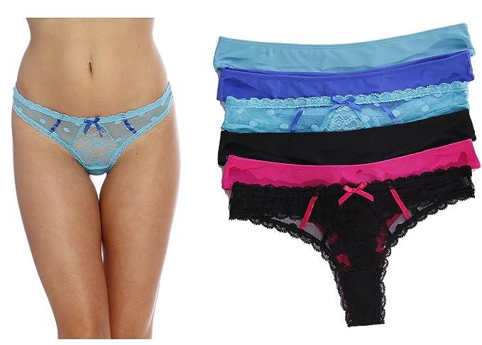 Sólo Intimates Thongs/ropa interior/Bragas Para Mujer (6 unidades)