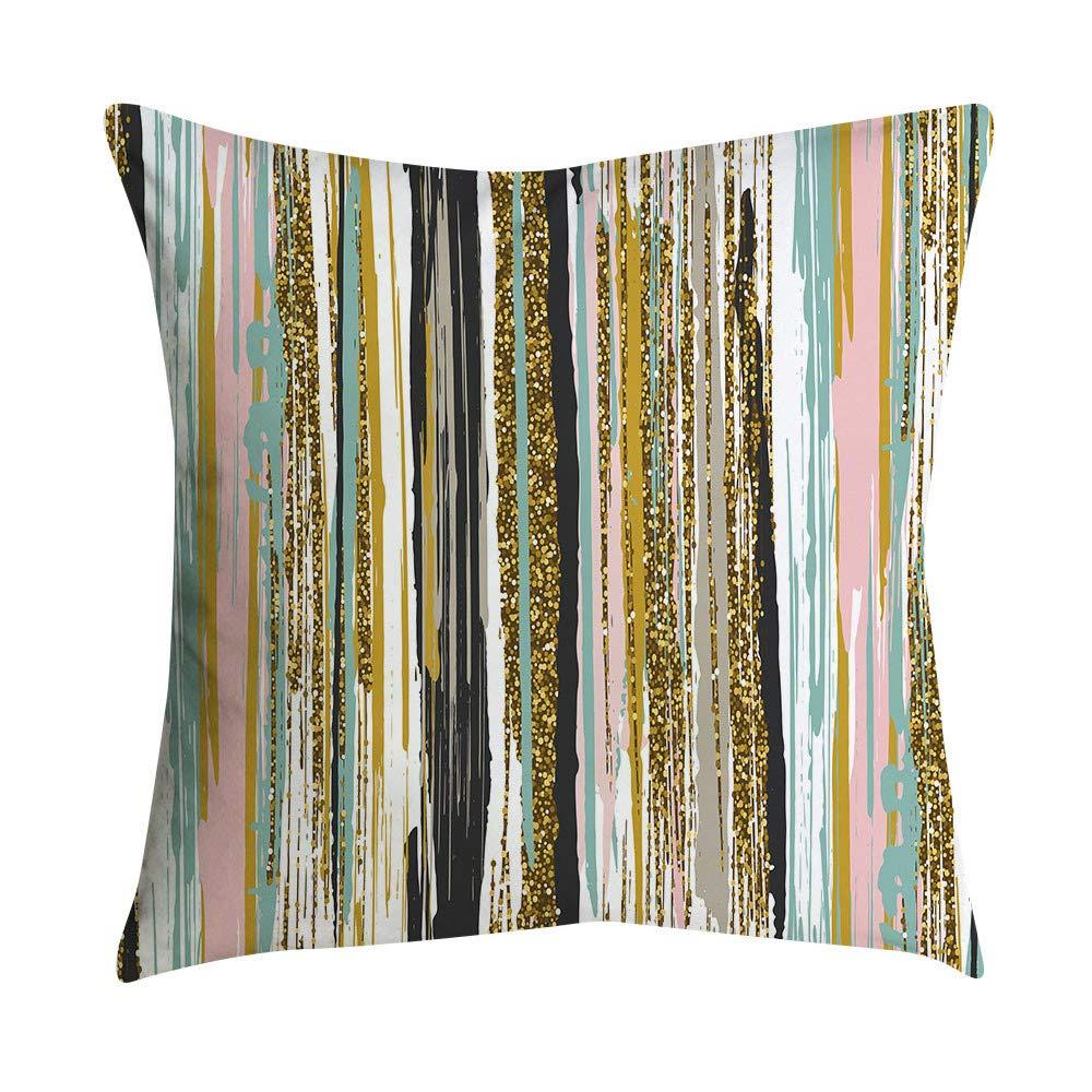 Pgojuni Small Fresh Pink Series Polyester Pillowcase Throw Pillow Cover Cushion Polyester Cover Pillow Case Home Decor 1pc (45cm X 45cm) (O)