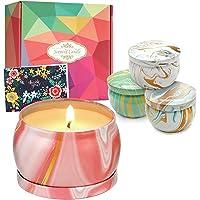 DIY OrganicZ Scented Candle Gift Set – 4.4 Oz | 4 Pure Fragrances (Sandalwood, Wild Bluebell, Aloe, Jasmine) | Pure…