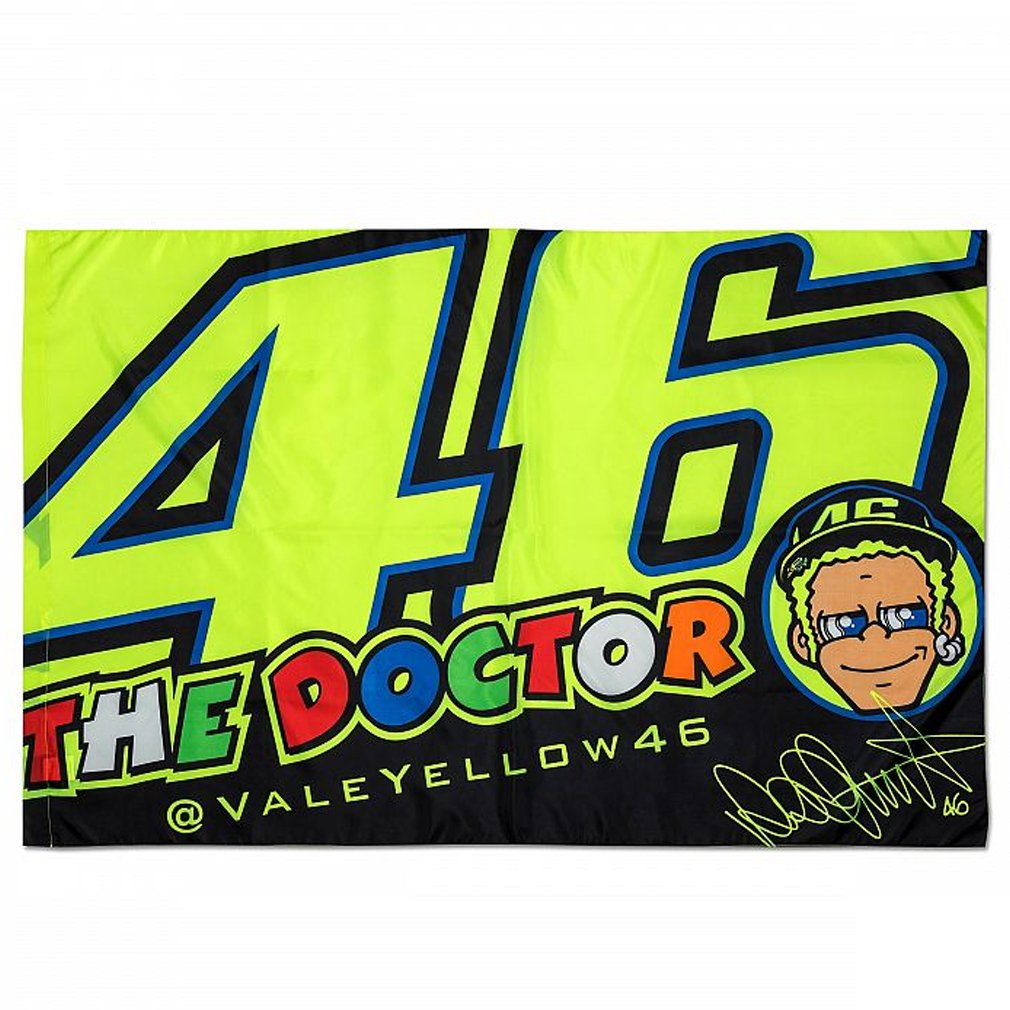 Valentino Rossi VR46 Moto GP The Doctor Flag Official 2018 VR/46