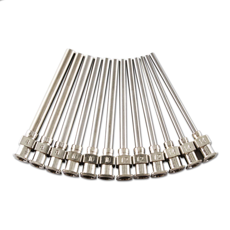 Amazon.com: Paquete de 12 agujas romas de acero inoxidable ...