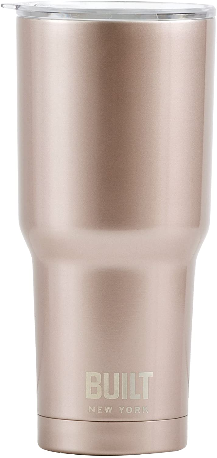 Built NY Double Wall Stainless Steel Vacuum Insulated Tumbler, 30-Ounce, Rose Gold