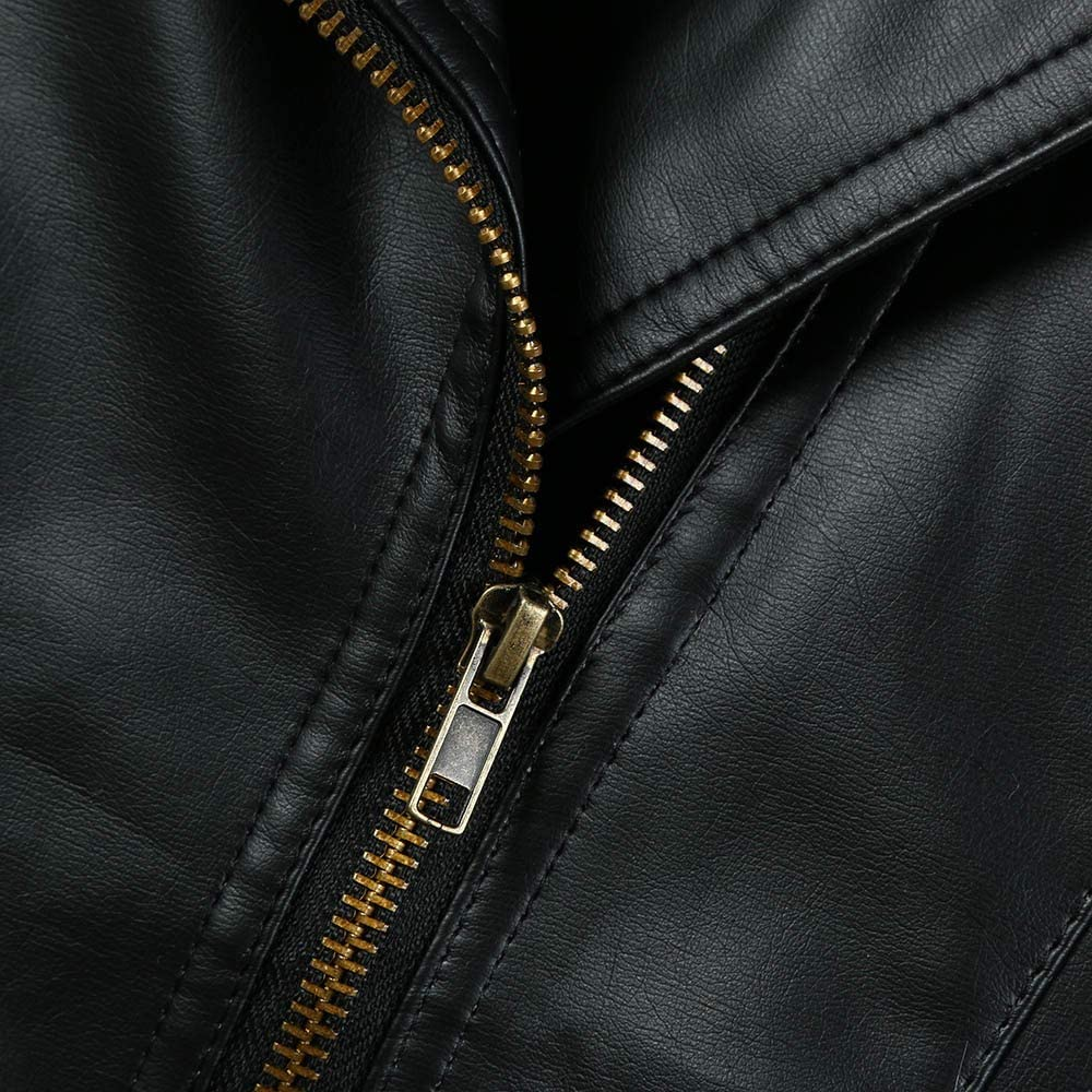jin&Co Autumn Winter Girl Boy Kids Leather Jacket Lapel Full Zip Motorcycle Coat Baby Girl Clothes PU Jacket Outerwear