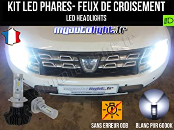 Kit de bombillas LED H7 de alto rendimiento para DACIA DUSTER: Amazon.es: Coche y moto