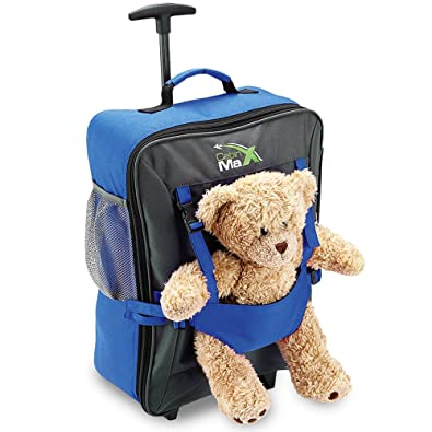 Cabin Max Bear Childrens Luggage Carry On Trolley Suitcase - Blue ...