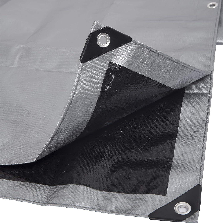 + 10 tensores de Lona Lona Impermeable Blanca 3 x 3 m Piscina Madera 200 g//m2 Coche y Camiones Lona de protecci/ón con Ojales para Muebles de jard/ín CoverUp