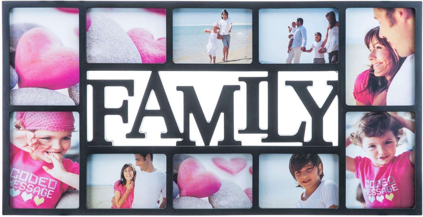 Marco de fotos Family para múltiples fotos, bodas, árbol genealógico, amor, niños, retratos