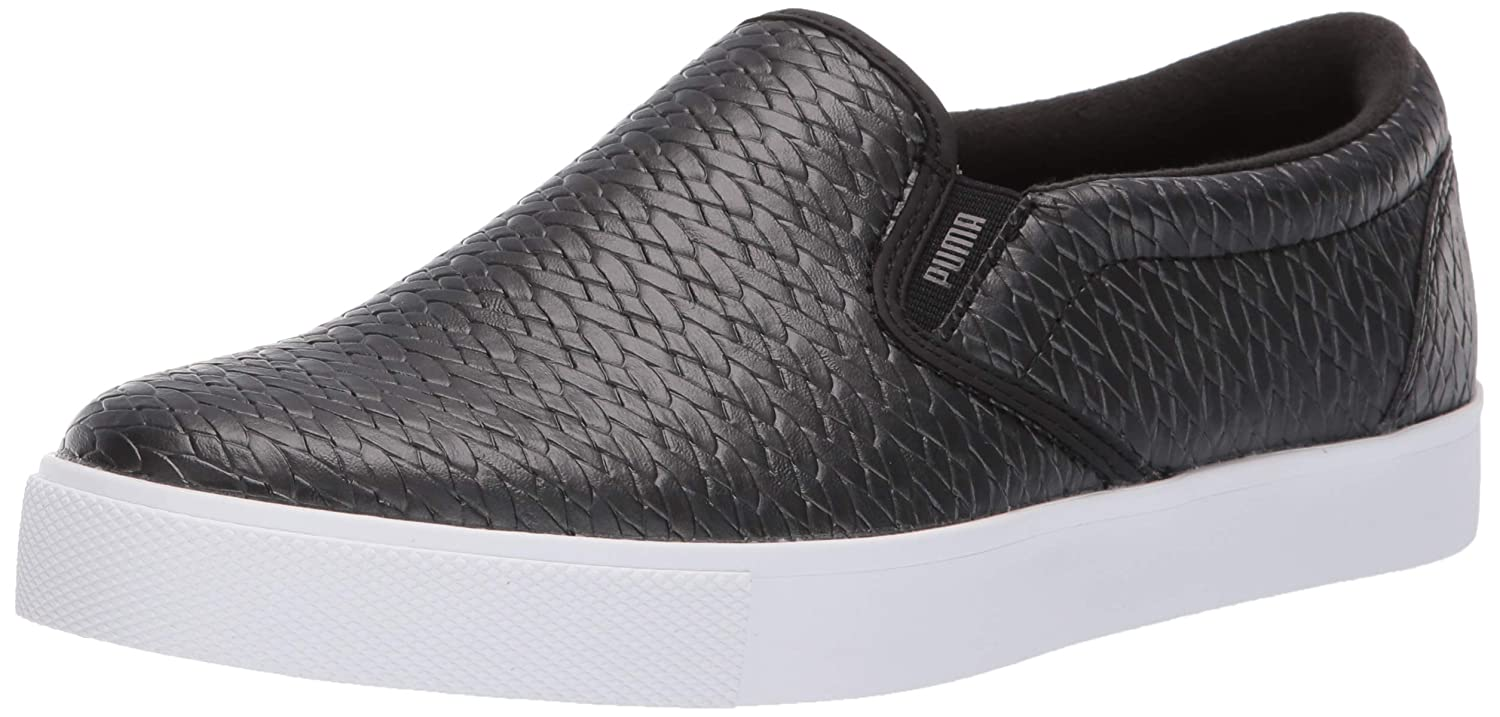[プーマ] レディース TUSTIN SLIP-ON 5.5 M US Puma Black-puma White B07FPF78SG