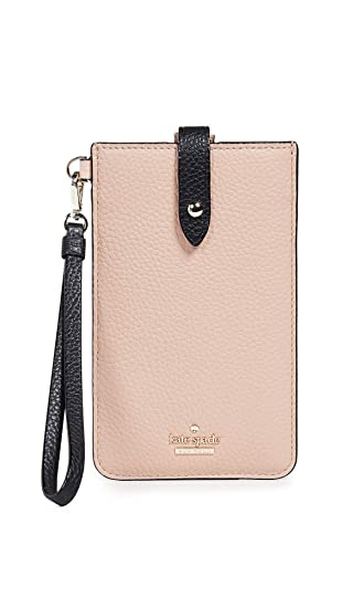 detailed look 9abc0 2a7ca Kate Spade New York Universal Pebbled Phone Sleeve, Ginger Tea/Black, One  Size