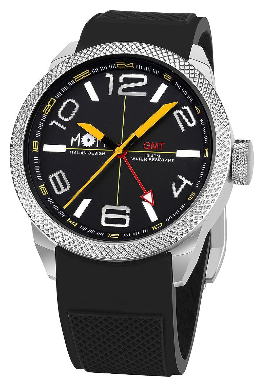 AMS MoM Herren-Armbanduhr Modena PM7000-100 - Edelstahl - schwarz - 16.5 x 10.01 x 10.01 cm