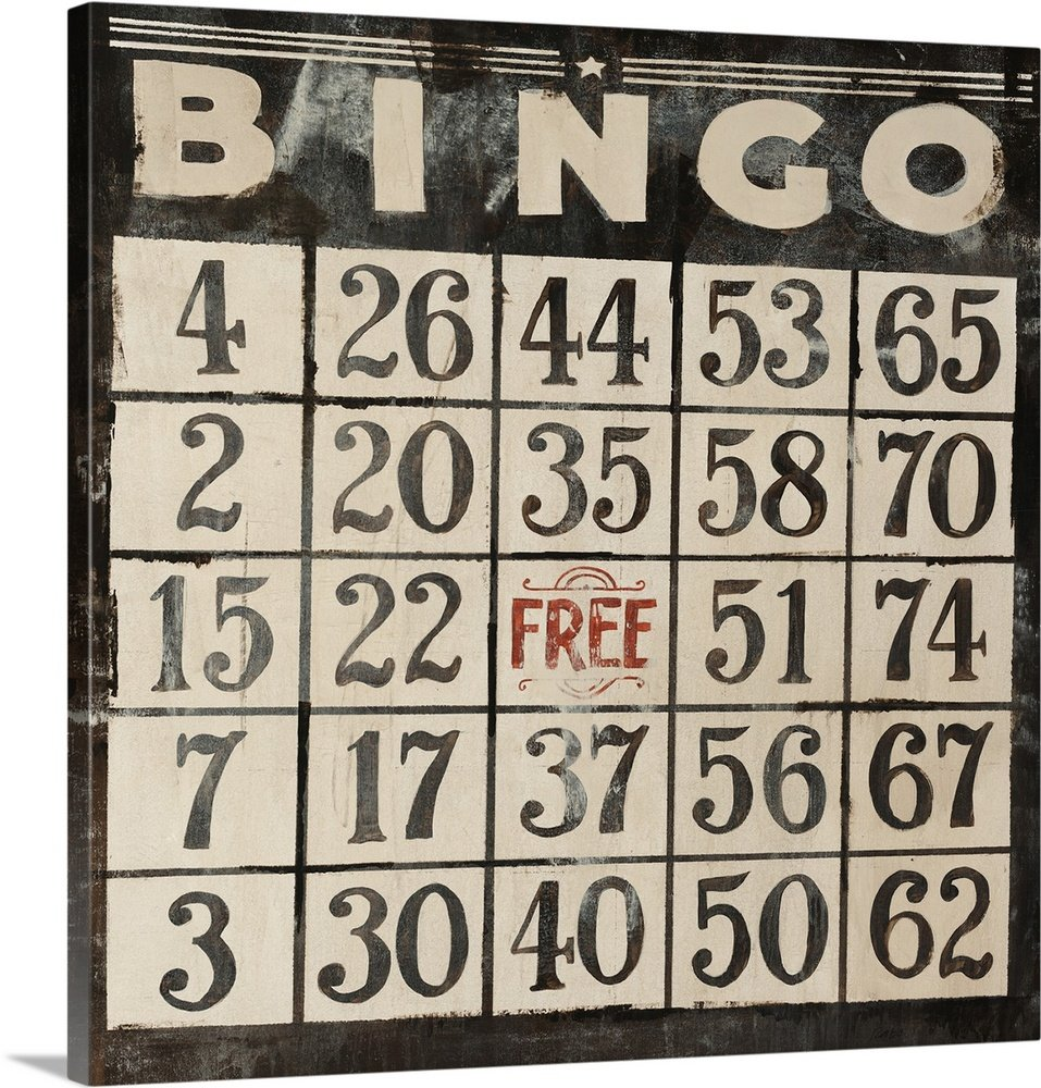 Clayton Rabo Premium Thick-Wrap Canvas Wall Art Print entitled Bingo 24''x24''