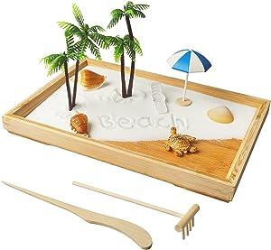 Japanese Zen Garden for Desk White Beach 12