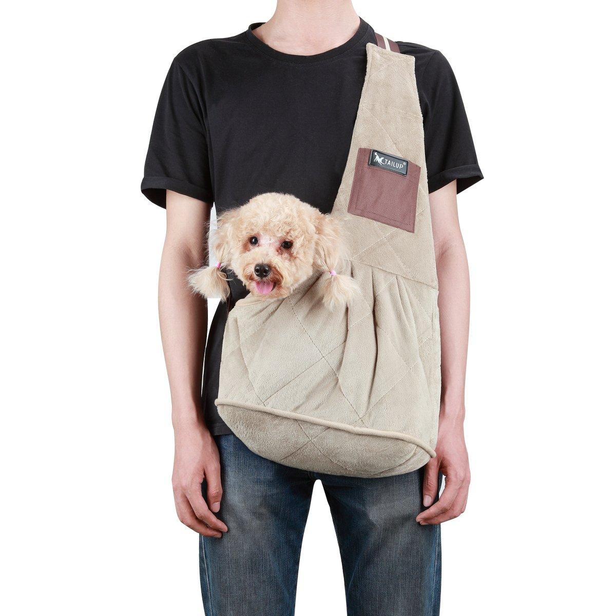Piccolo portaerei a scorrimento di piccoli cani regolabile borsa a spalla singola portaborse per animali da compagnia per il portaborse di viaggio Pet Puppy (piccolo)