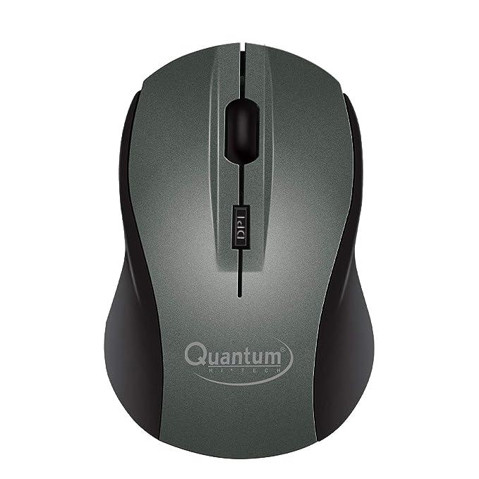 Quantum QHM262W Optical Wireless USB Mouse with 1600DPI  Grey  Mice