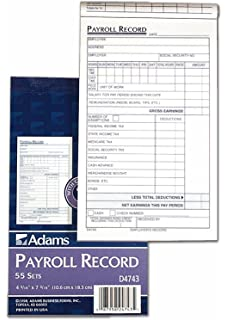 amazon com adams 2 part delivery receipts carbonless 4 19 x 7 19