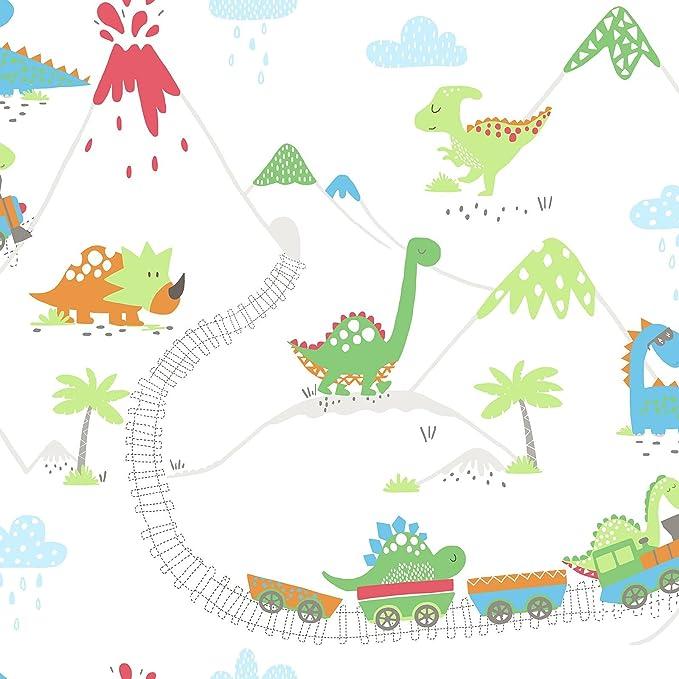Holden Over The Regenbogen Tapete Kinder Einhörner Dino Raum Tiere Dots Wolken
