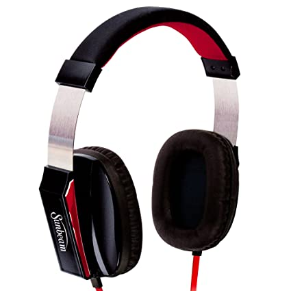8716c60fa4d Image Unavailable. Image not available for. Color: Sunbeam 72-SB650 Stereo  Big Bass Headphones with Microphone ...