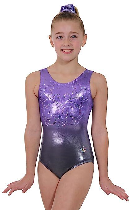 3782740a2cc6 Amazon.com   Snowflake Designs Ombre Gymnastics Tank Leotard ...