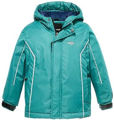 20f810d2b Wantdo Boy s Waterproof Ski Fleece Jacket Hooded Windbreaker with ...
