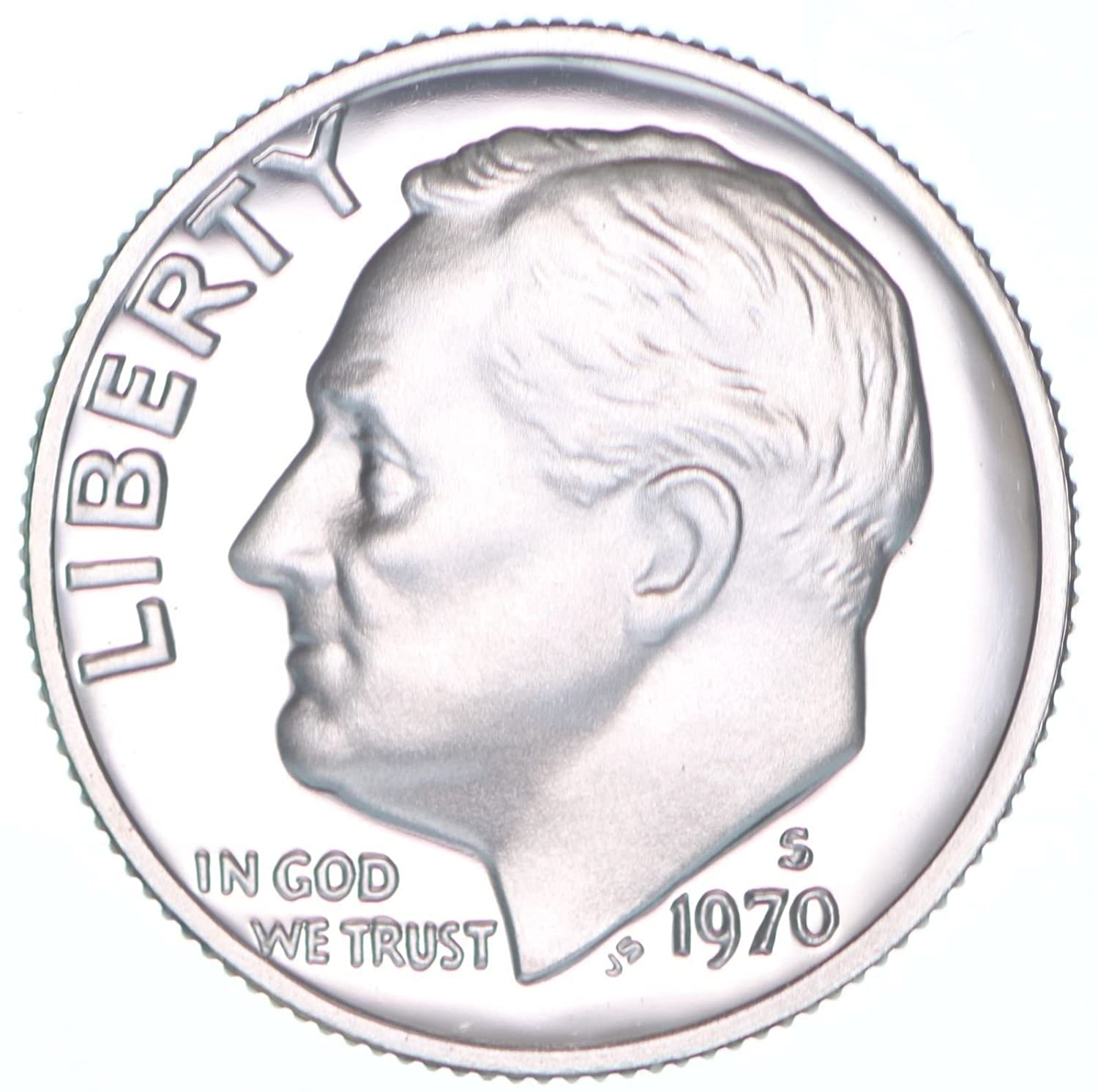 Coin from Original Proof Set 1970 S Roosevelt Mint Proof Dime ~ U.S