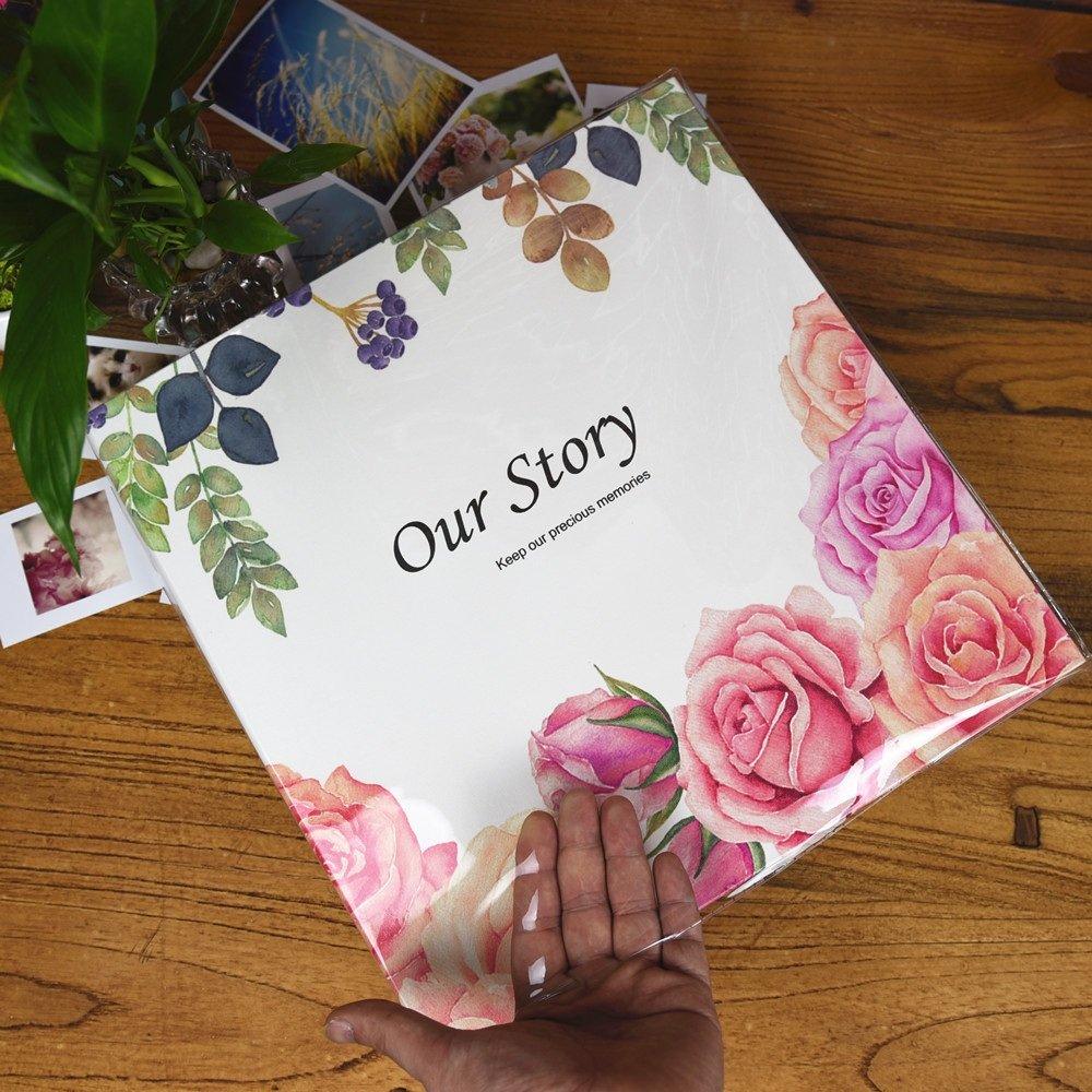 Álbumes de fotos de Álbum Bricolaje Autoadhesivo Tipo Negro Página Interior Álbum de Familiar Cubierta de Color Memorial para niños Artículos conmemorativos Folleto para bebés (Color : 5) bd99a3