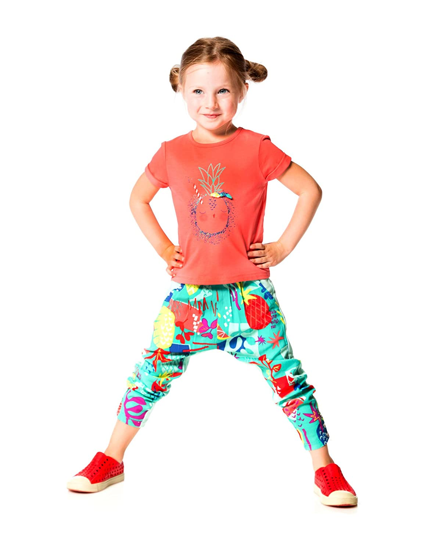 Sizes 12M-6 Deux par Deux Little Girls Summer Pants Cold Press Fashion