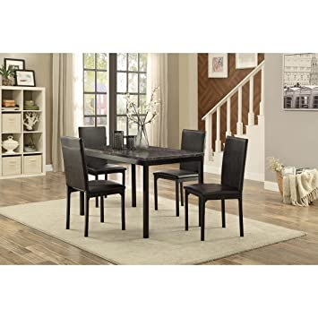 Astonishing Amazon Com Hefx Thorndike Modern 5 Piece 48 Inch Faux Download Free Architecture Designs Aeocymadebymaigaardcom
