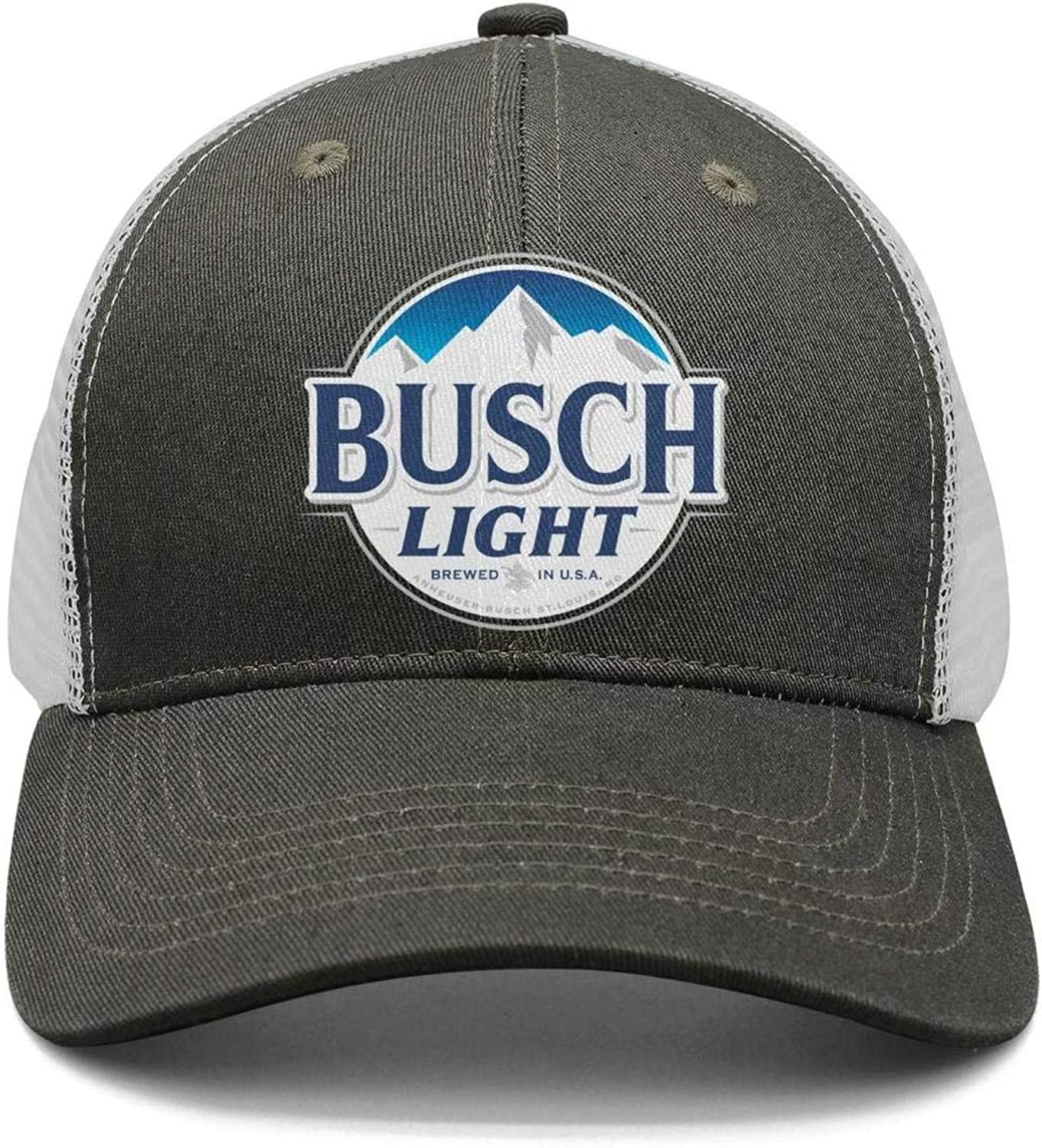 Unisex Light Latte Beer Sign Fitted Caps Mesh Sun Hats