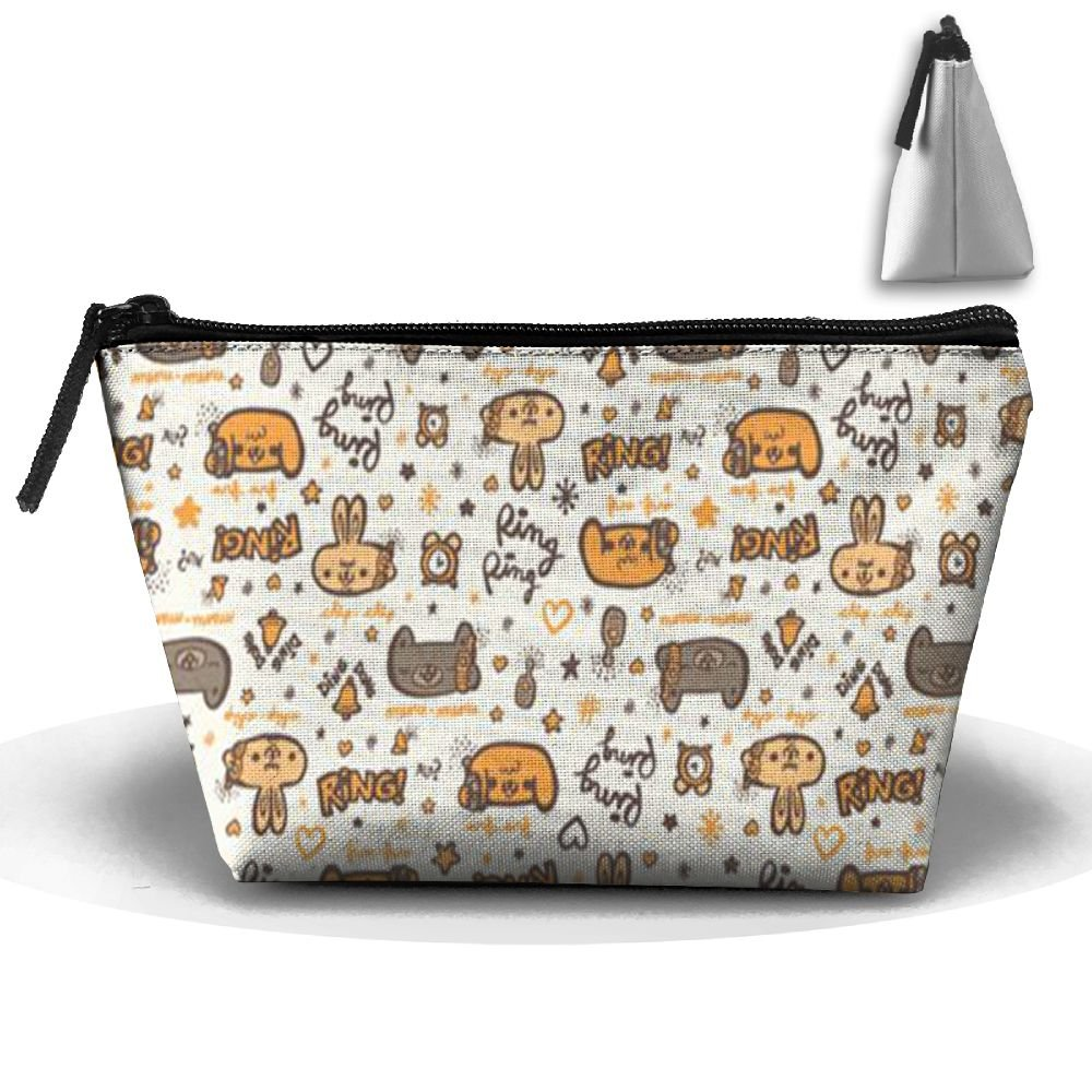 bc2985856ba1 30%OFF ZRTGS Animal Pattern Wallpaper Personality Portable Women Trapezoid  Travel Bag Cosmetic Bag Receive