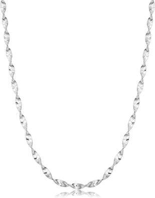 "Southwestern Jewelry Sterling Silver Figaro Chain Necklace 20/"" Long x 8mm"