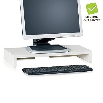 amazon com way basics computer monitor stand tv pc laptop rh amazon com dual computer monitor stand for desk