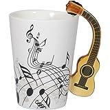 I-MART Musical Notes Design Ceramic Drink Tea Coffee Mug Cup (Acoustic Guitar)