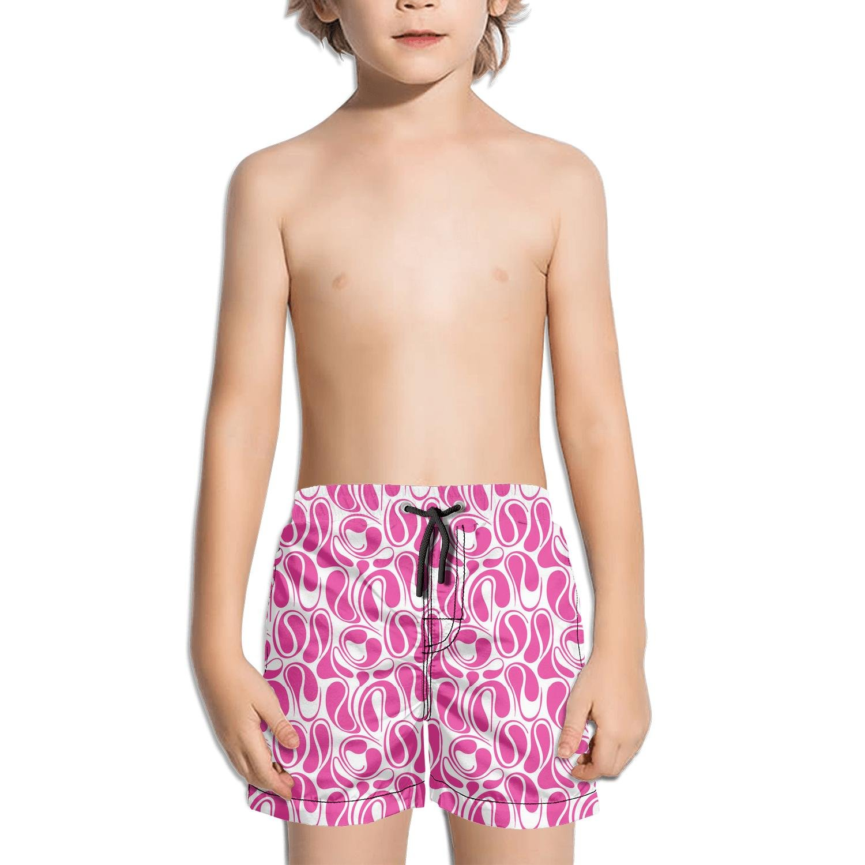 Lenard Hughes Boys Quick Dry Beach Shorts with Pockets Pink camo Wedding Swim Trunks for Summer