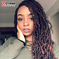3 Pack Spring Twist Crochet Braids Bomb Twist Crochet Hair Ombre Colors Synthetic Fluffy Hair Extension 8inch 110g (T1B-350)