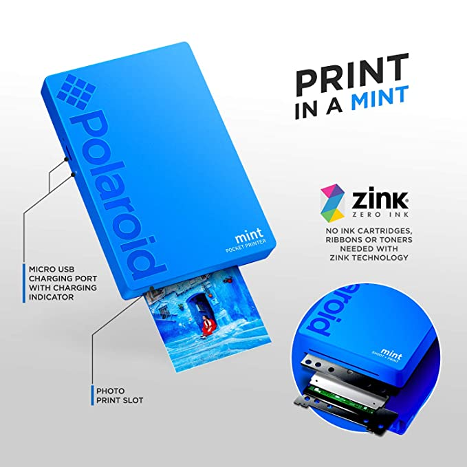 Amazon.com: Polaroid Mint Pocket Printer W/Zink Zero Ink ...