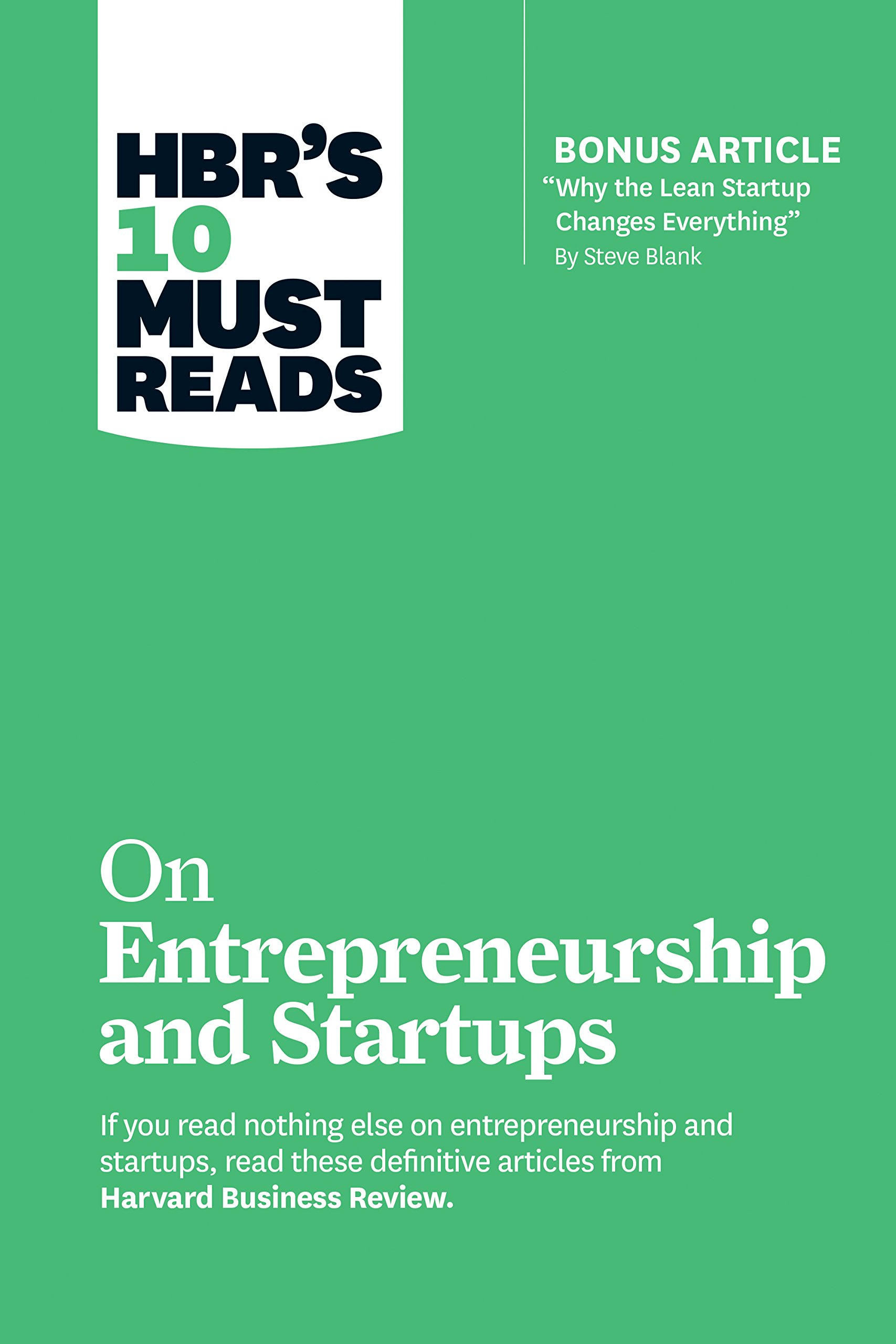 Amazon com: HBR's 10 Must Reads on Entrepreneurship and