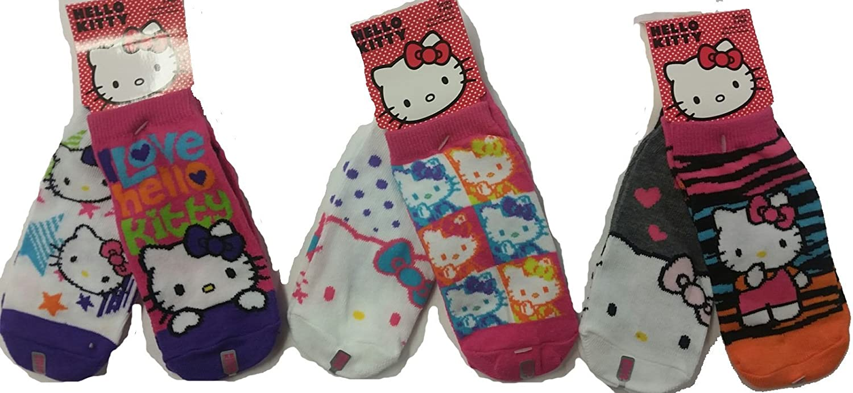 2 Pair Assorted Hello Kitty Socks Size 6-8 Girls Socks