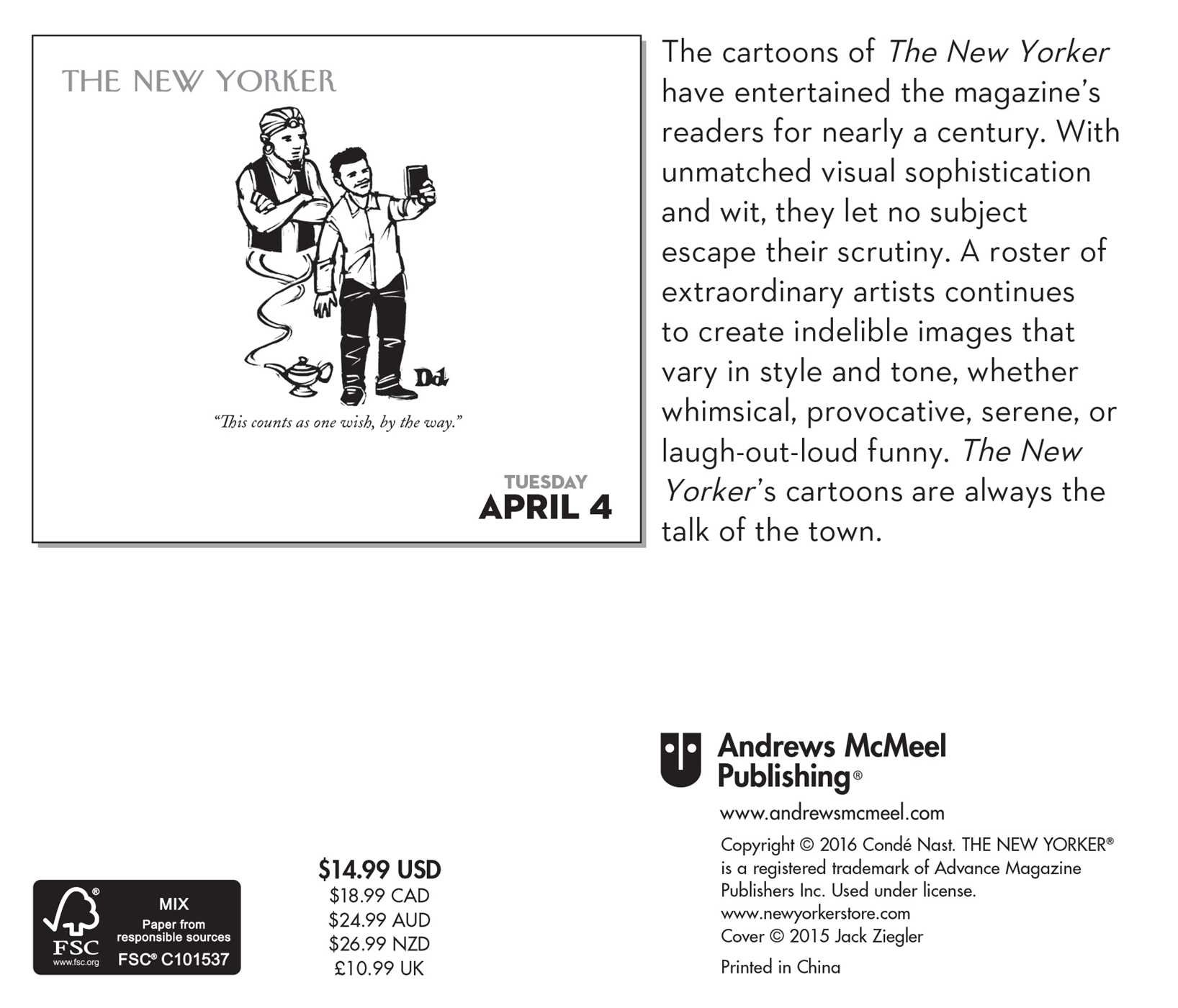 cartoons from the new yorker 2017 day to day calendar conde nast
