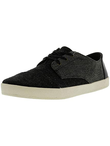 71a6a46c087 TOMS Paseo Canvas Sneaker Black Chambray 6 D(M) US  Buy Online at Low  Prices in India - Amazon.in