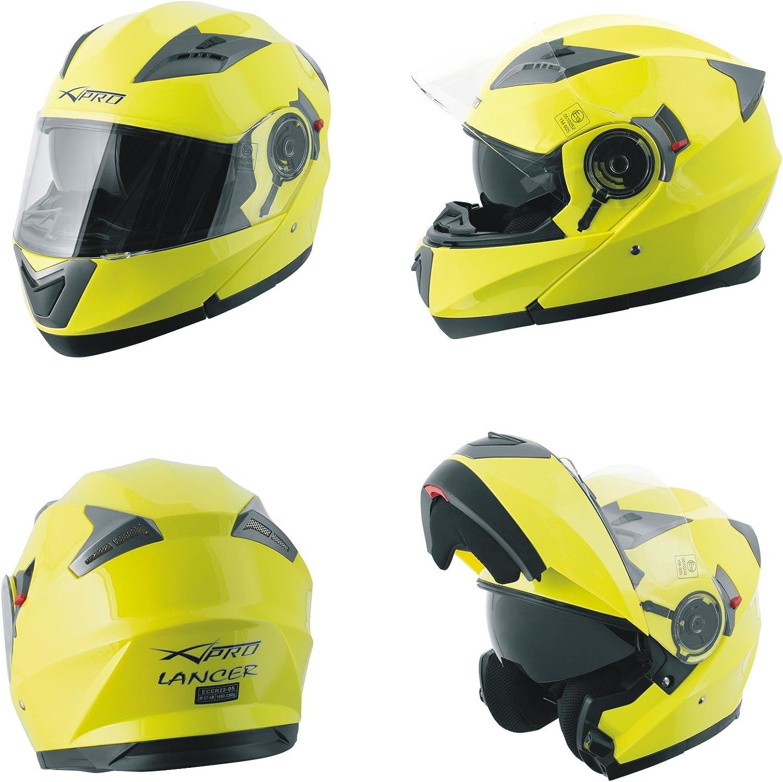 Motorbike Flip Up Sun Visor Helmet Motorcycle Jet Modular Black XS