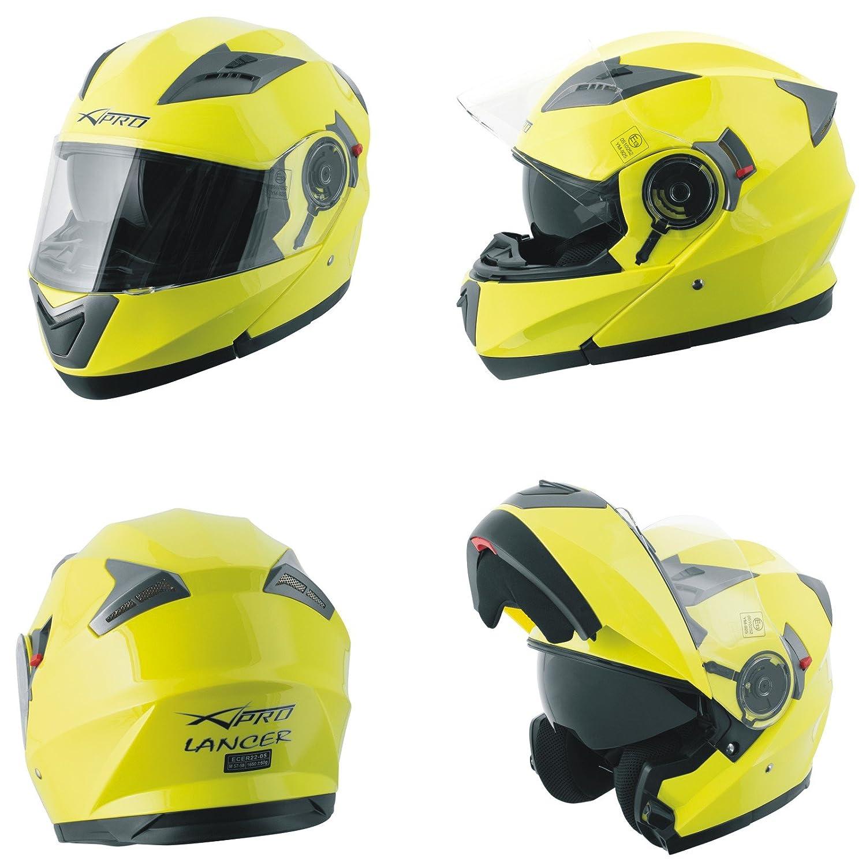 A-Pro Helm Klapphelm Innensonnenblende Motorradhelm Modular Mat Schwarz S