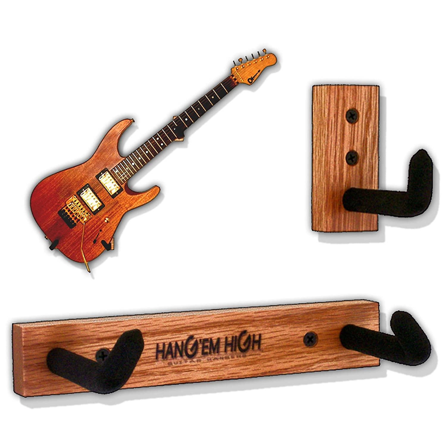 angled guitar wall hanger display for electric and