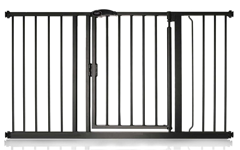 Safetots Auto Close Baby Gate Matt Black Range 68.5cm - 75cm