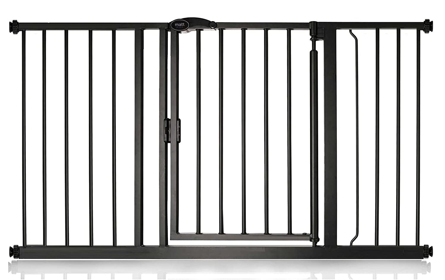 132.6cm139.6cm Bettacare Auto Close Matt Black Pet Gate Range (103.8cm110.8cm)